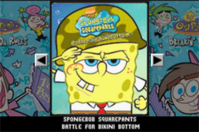 2 Games in 1: SpongeBob SquarePants: Battle for Bikini Bottom + The Fairly OddParents!: Breakin' da Rules - Screenshot - Game Title