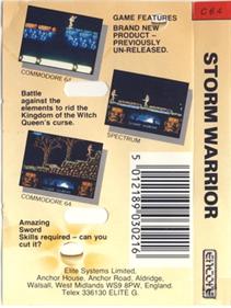 Storm Warrior (Encore) - Box - Back