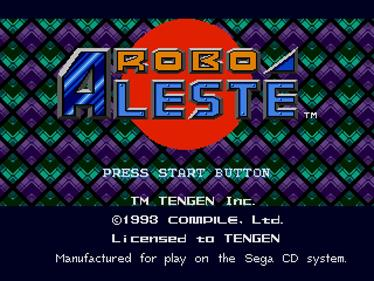 Robo Aleste - Screenshot - Game Title