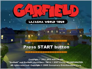Garfield: Lasagna World Tour - Screenshot - Game Title