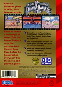 Mighty Morphin Power Rangers: The Movie - Box - Back - Reconstructed
