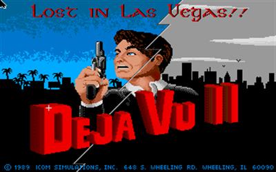 Deja Vu II: Lost in Las Vegas - Screenshot - Game Title