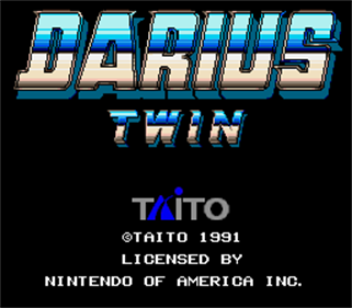 Darius Twin - Screenshot - Game Title