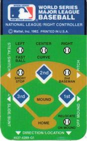 World Series Major League Baseball - Arcade - Control Panel