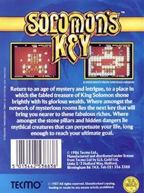 Solomon's Key - Box - Back