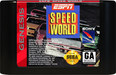 ESPN Speed World - Cart - Front