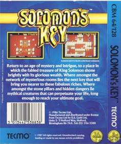 Solomon's Key - Box - Back