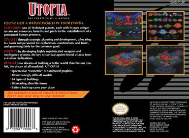Utopia: The Creation of a Nation - Box - Back