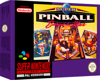 Super Pinball: Behind the Mask - Box - 3D