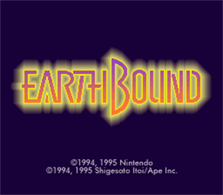 EarthBound - Screenshot - Game Title