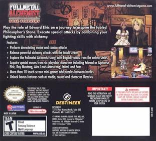 Fullmetal Alchemist: Dual Sympathy - Box - Back
