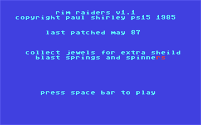 Rim Raiders - Screenshot - Game Title