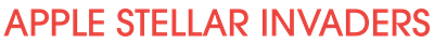Apple Stellar Invaders - Clear Logo