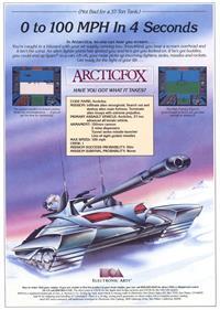 Arcticfox - Advertisement Flyer - Front