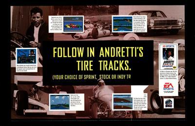 Mario Andretti Racing - Advertisement Flyer - Front