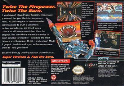 Super Turrican 2 - Box - Back
