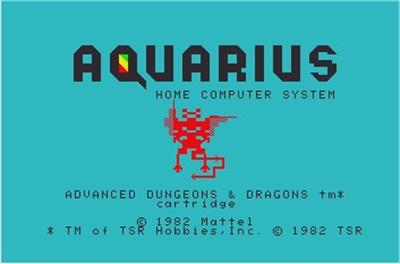 Advanced Dungeons & Dragons - Screenshot - Game Title