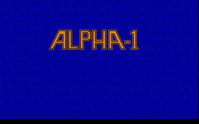 Alpha-1 - Screenshot - Game Title