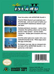 Adventure Island II - Box - Back