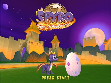 Spyro: Year of the Dragon - Screenshot - Game Title