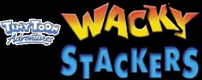 Tiny Toon Adventures: Wacky Stackers - Clear Logo