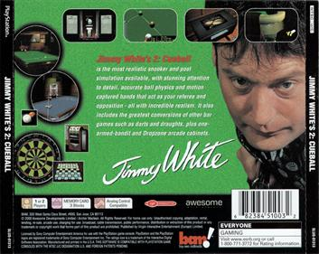 Jimmy White's 2: Cueball - Box - Back
