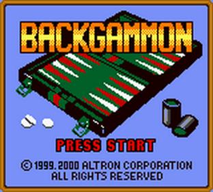 Backgammon - Screenshot - Game Title