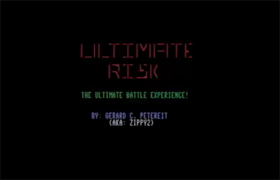 Ultimate Risk - Screenshot - Game Title