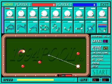 1994Pool+ - Screenshot - Gameplay