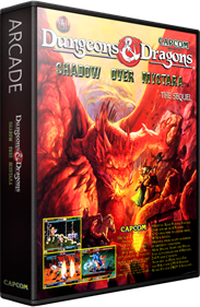 Dungeons & Dragons: Shadow Over Mystara - Box - 3D