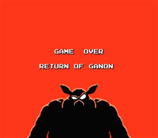 Zelda II: The Adventure of Link - Screenshot - Game Over