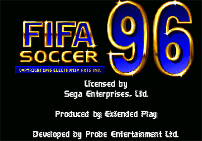 FIFA Soccer 96 - Screenshot - Game Title