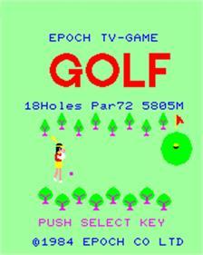 Super Golf - Screenshot - Game Title