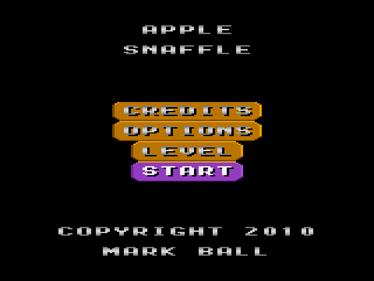 Apple Snaffle - Screenshot - Game Title