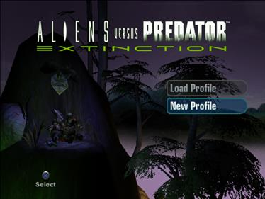 Aliens Versus Predator: Extinction - Screenshot - Game Select