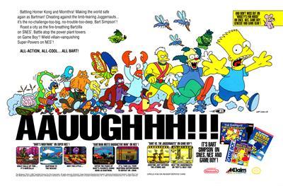 The Simpsons: Bart's Nightmare - Advertisement Flyer - Front