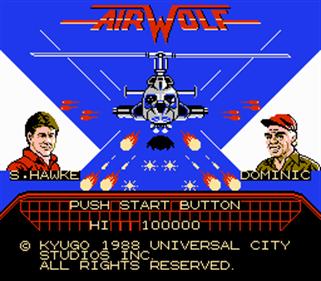 Airwolf (Kyugo) - Screenshot - Game Title
