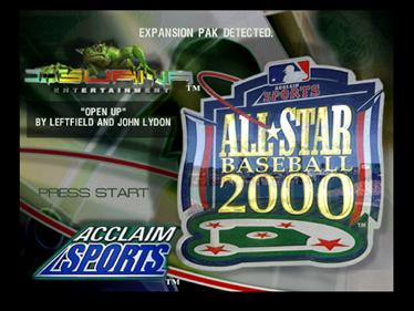 All-Star Baseball 2000 - Screenshot - Game Title
