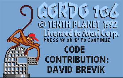 Gordo 106 - Screenshot - Game Title