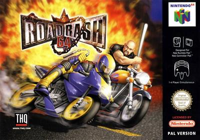 Road Rash 64 - Box - Front