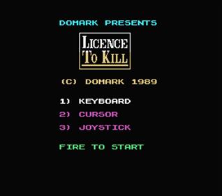 007: Licence to Kill - Screenshot - Game Select