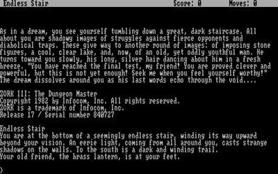 Zork III: The Dungeon Master - Screenshot - Game Title