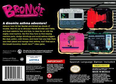 Bronkie the Bronchiasaurus - Box - Back