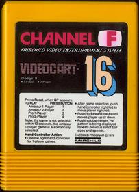 Videocart-16: Dodge-It - Cart - Front