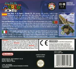 Super Mario 64 DS - Box - Back