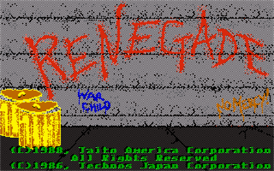 Renegade - Screenshot - Game Title