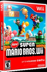 New Super Mario Bros. Wii - Box - 3D