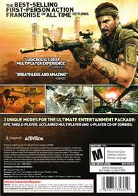 Call of Duty: Black Ops - Box - Back
