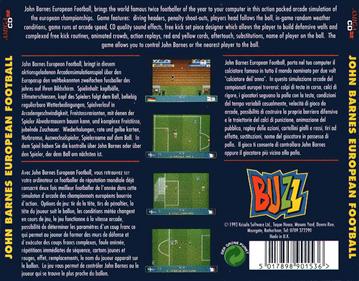 John Barnes European Football - Box - Back