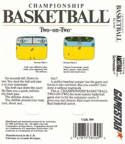 GBA Championship Basketball: Two-on-Two - Box - Back